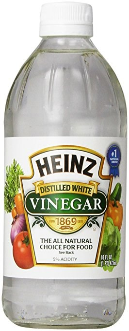 Heinzas distilled white vinegar