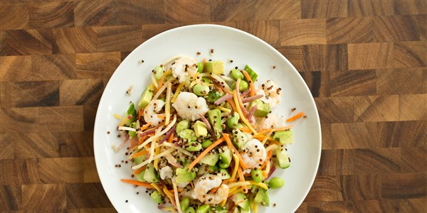 Azijos Shrimp and Carrot Slaw