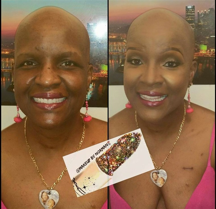 Machiaj artist Norman Freeman offers free makeovers to cancer patients.