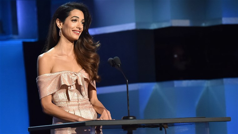 Amalas Clooney honors George Clooney at 2018 AFI Life Achievement Award Gala