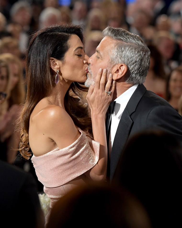 Georgeas and Amal Clooney