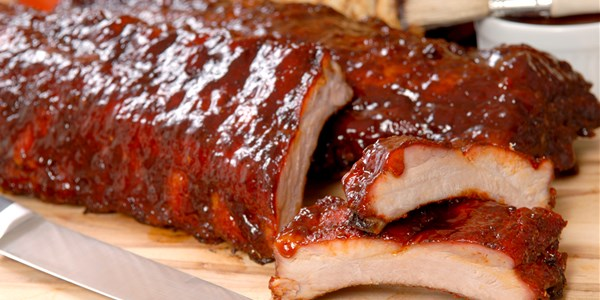 Kryddad and Savory Barbecued Pork Ribs with Two Sauces