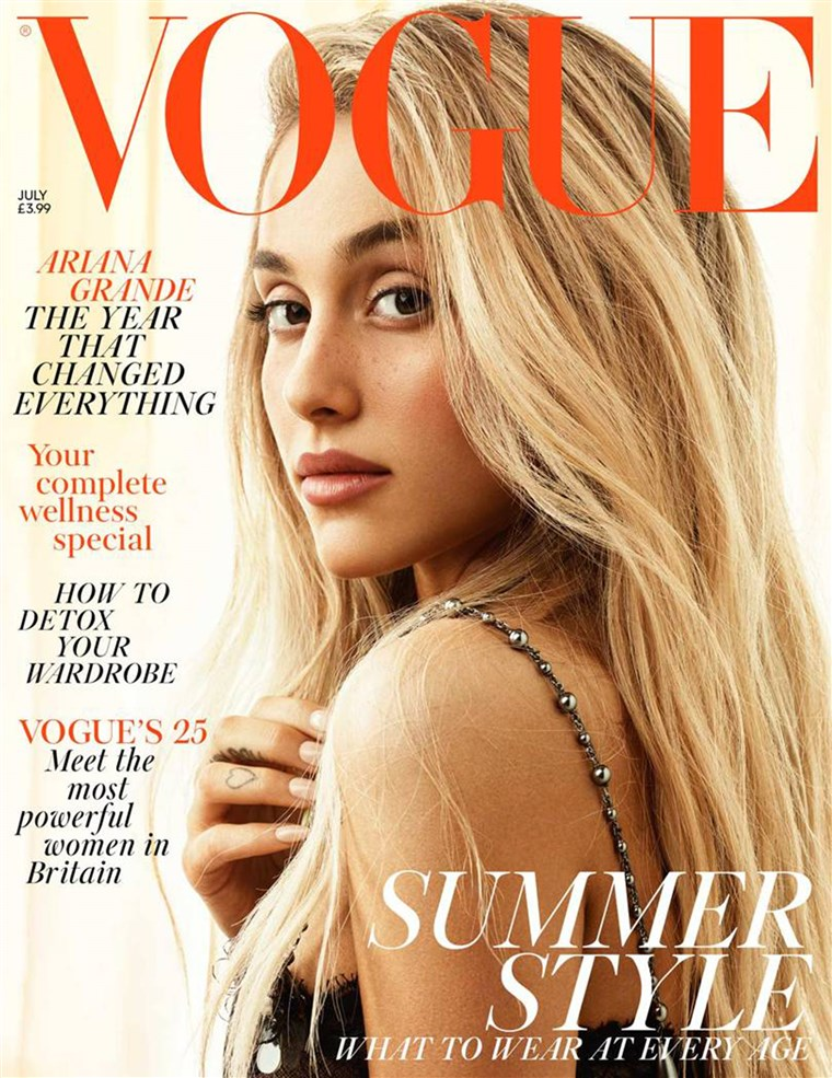 Ariana Grande, July 2018 issue of British Vogue