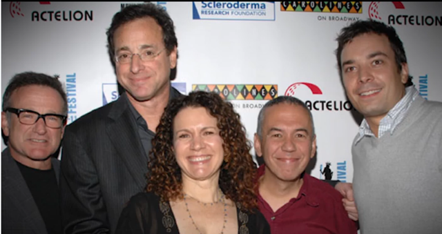 Робин Williams, Bob, Susie Essman, Gilbert Gottfried and Jimmy Fallon at the Scleroderma Research Foundation benefit in 2007.