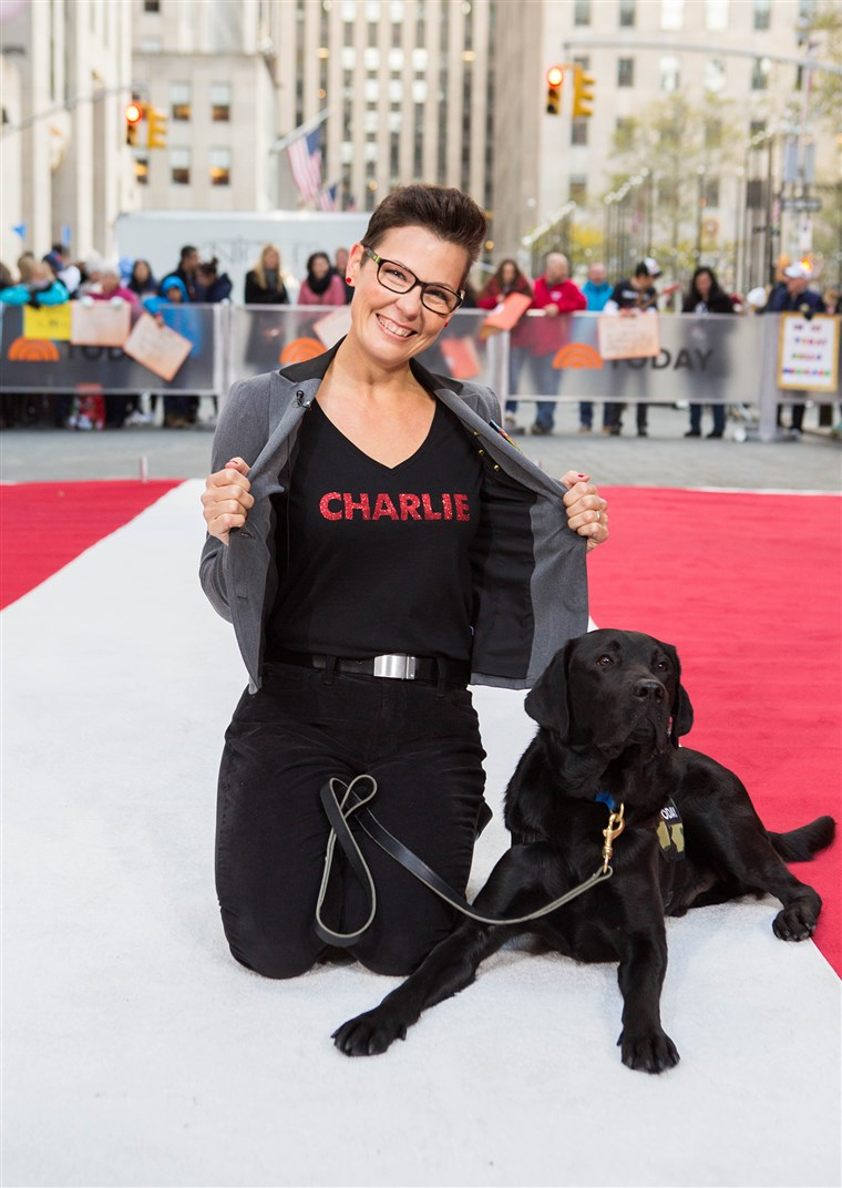 Преко the last 14 months, TODAY puppy Charlie has grown into a full-fledged service dog in training. Watch the emotional moment that Charlie meets the new teammate he has been trained to work with: military veteran Stacy Pearsall.