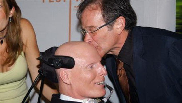 prihor Williams helped lift the spirits of old friend Christopher Reeve after Reeve's 1995 accident that left him with quadriplegia.