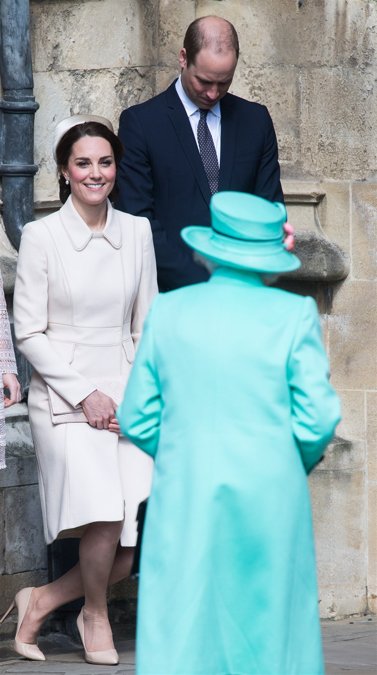 De Royal Family Attend Easter Day Service In Windsor