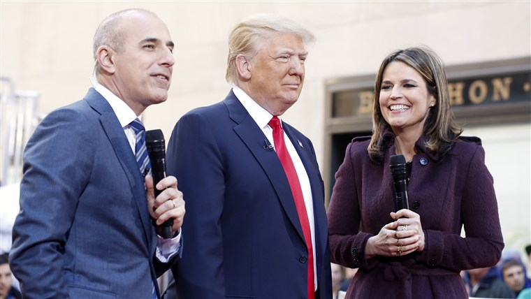 Доналд Trump with Matt Lauer and Savannah Guthrie