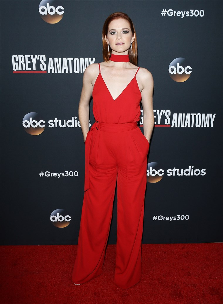 Sarah Drew at 300th episode celebration for ABC's
