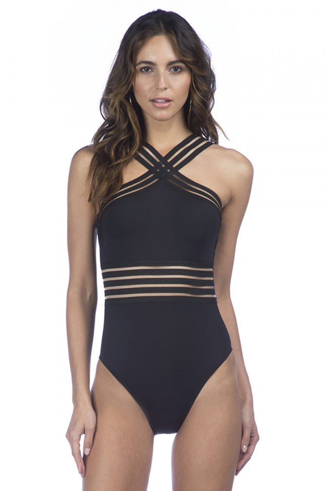 Svart one-piece swimsuit