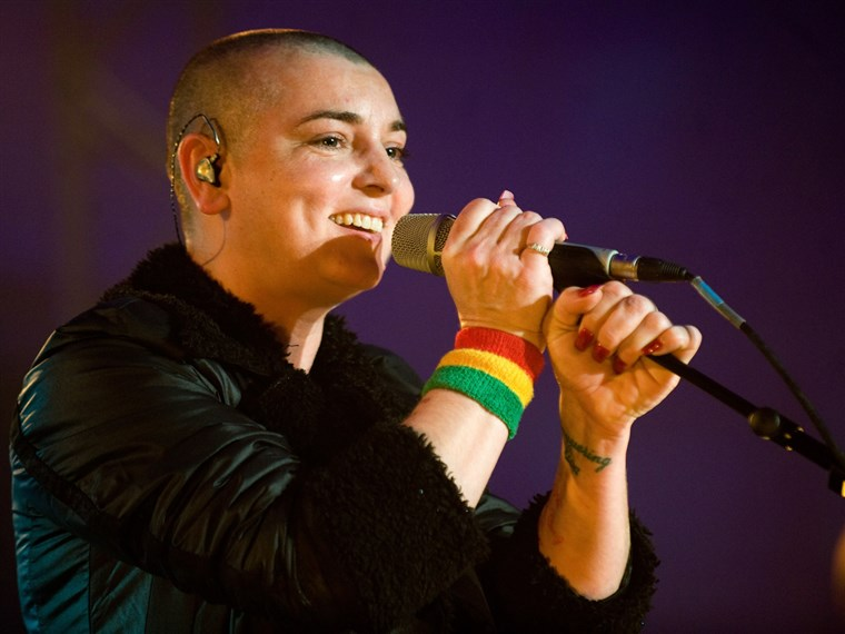 Sineadas O'Connor, seen here in 2011, famously tore up a photo of the pope on