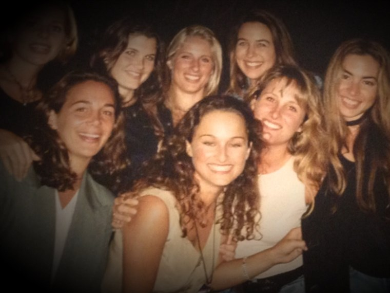 Гиада is pictured here as a teen with her friends. She used to love going to Pink's.