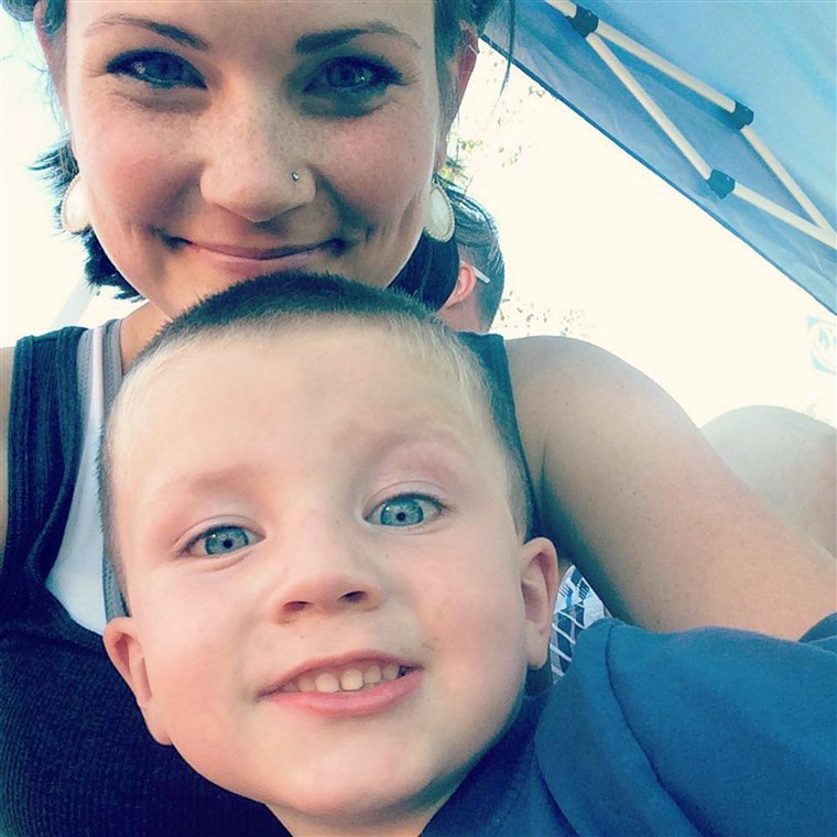 Ashley Grimm and her son Titus