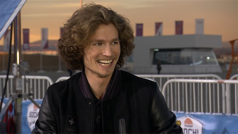 Iouri Podladtchikov talks to the TODAY anchors about his friendship with fellow snowboarder Shaun White.