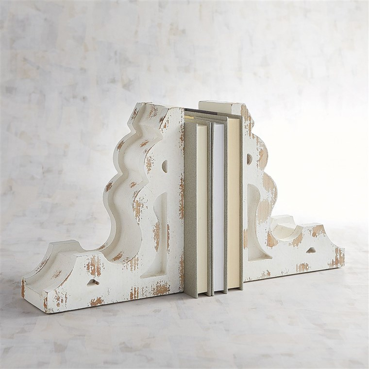 De lemn Bookend Set