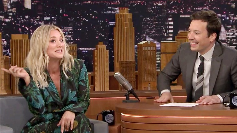 Kaley Cuoco Tries To Sing 'The Big Bang Theory' Theme Song On 'The Tonight Show'