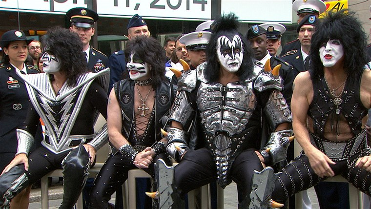 De members of the legendary KISS dropped by Rockefeller Plaza on TODAY Friday to talk about their new tour and hiring military veterans after being inducted into the Rock and Roll Hall of Fame on Thursday night.