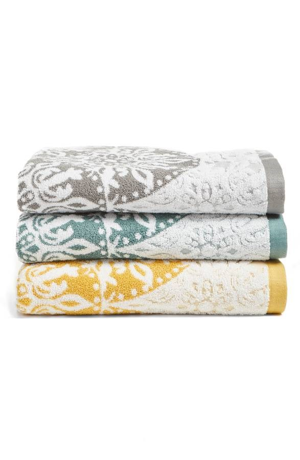 Nordstrom at Home Fan Ombre Jacquard Bath Towel