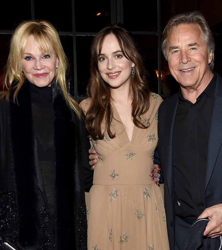 Melanie Griffith, Dakota Johnson, and Don Johnson