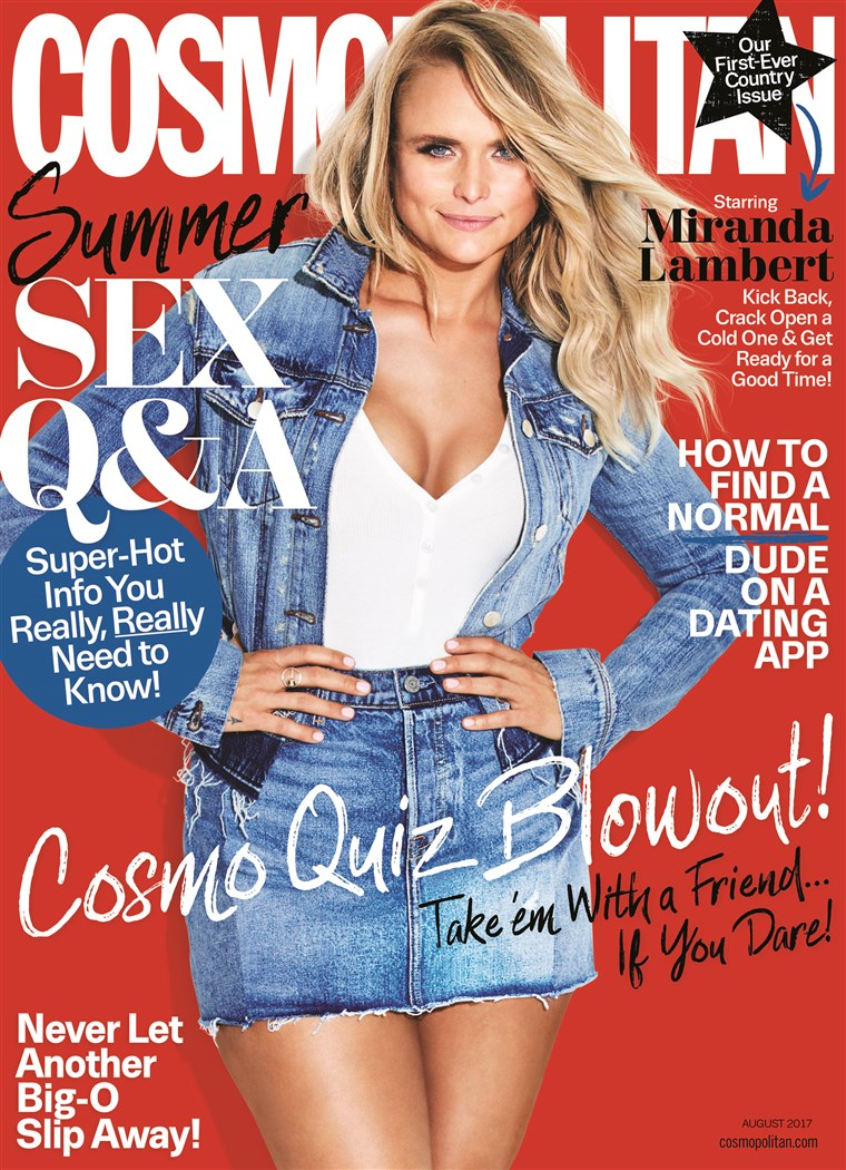 Miranda Lambert covers Cosmo's first ever country issue.