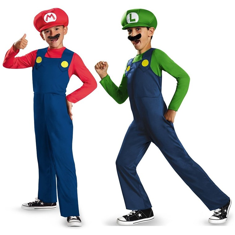 Супер Mario Brothers are halloween favorites for kids this year