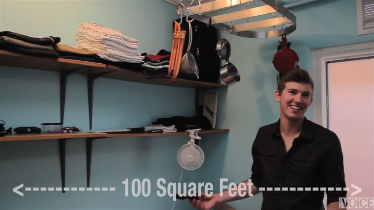 Tai guy that lives in a 100 square foot NYC apartment for $1,100 a month