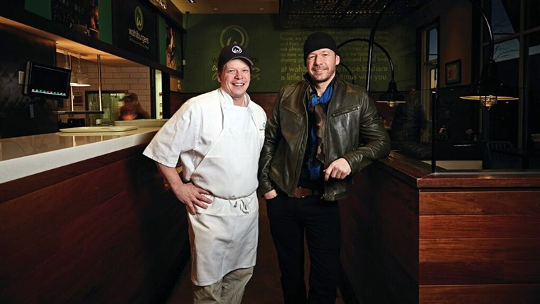 Paul and Donnie Wahlberg at their restaurant