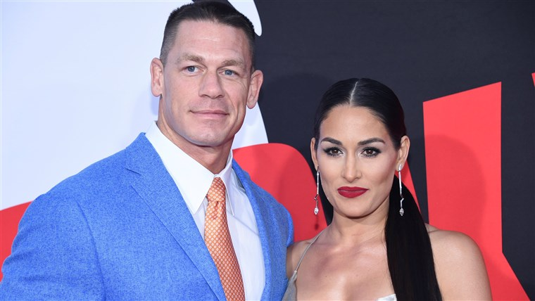 Imagine: John Cena and Nikki Bella attend the premiere of