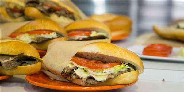 Italiensk stil Philly Cheesesteak