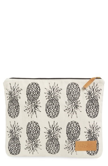 Ananas canvas clutch