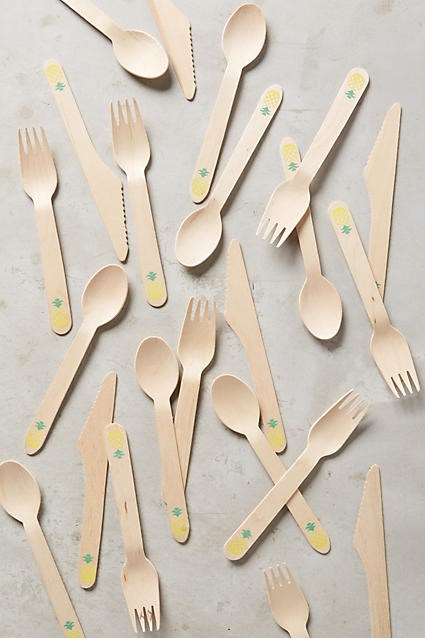 Anthropologie pineapple party cutlery