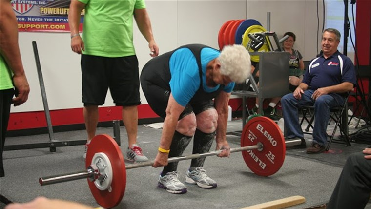 Shirley Webb, a 78-year-old grandma who has set records for deadlifting 225 pounds in weightlifting competitions