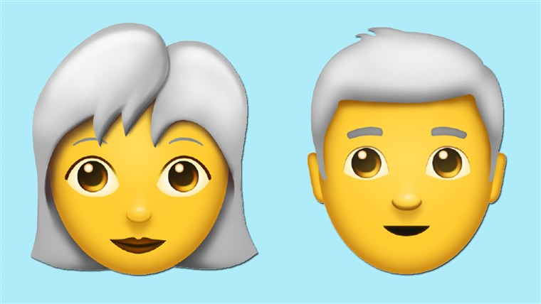 Особа with white hair emoticon