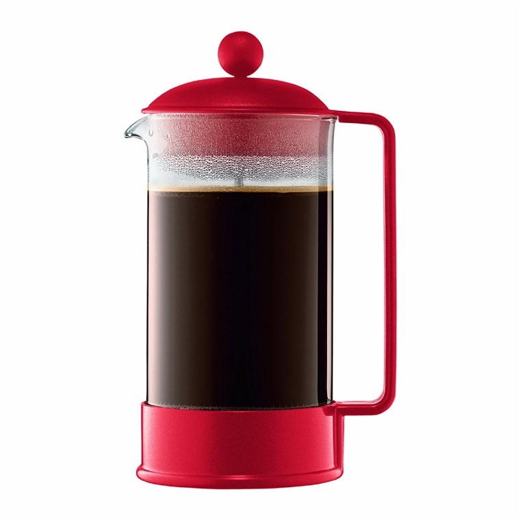 Bodum french press in red