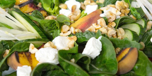 Scott Conant's Grilled Peach Salad with Cherry Vinaigrette