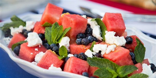 Siri Daly's Watermelon, Blueberry and Feta Salad