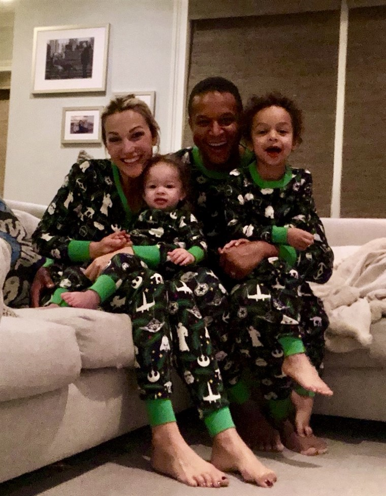 Craig Melvin's family looked merry and bright in their Christmas pajamas!