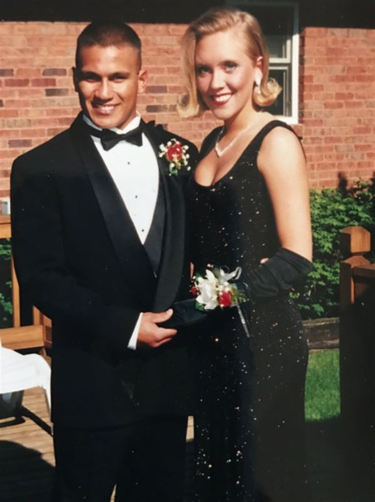 adolescent who wore her mom's prom dress 22 years later. Lori Johnson, prom
