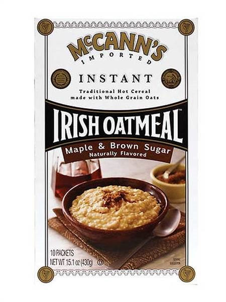 McCannas's maple and brown sugar instant oatmeal