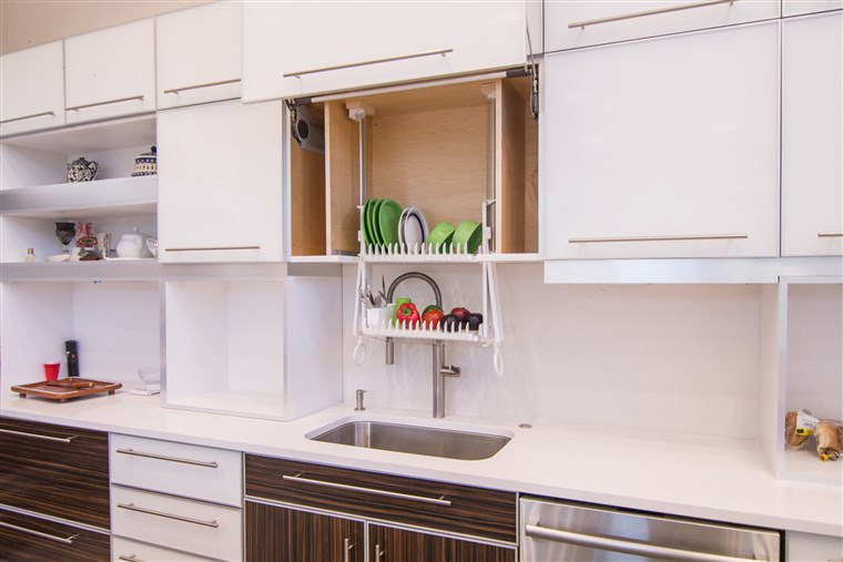 Тхе DripDry can be installed into an existing cabinet, and can also be used to store washed fruits and vegetables.