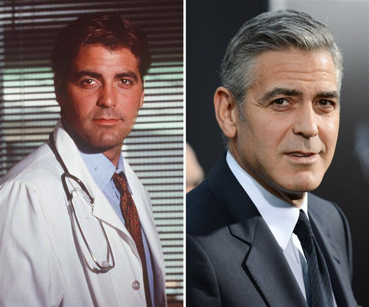 Georgeas Clooney, then and now.