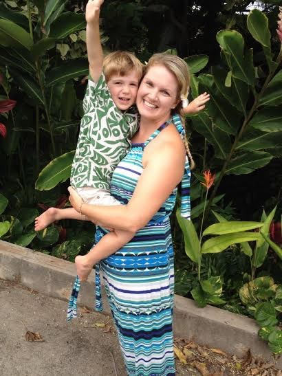 Det has taken Dana Macario (shown with son Ben) two years to make close mom friends in her new home of Maui, Hawaii.
