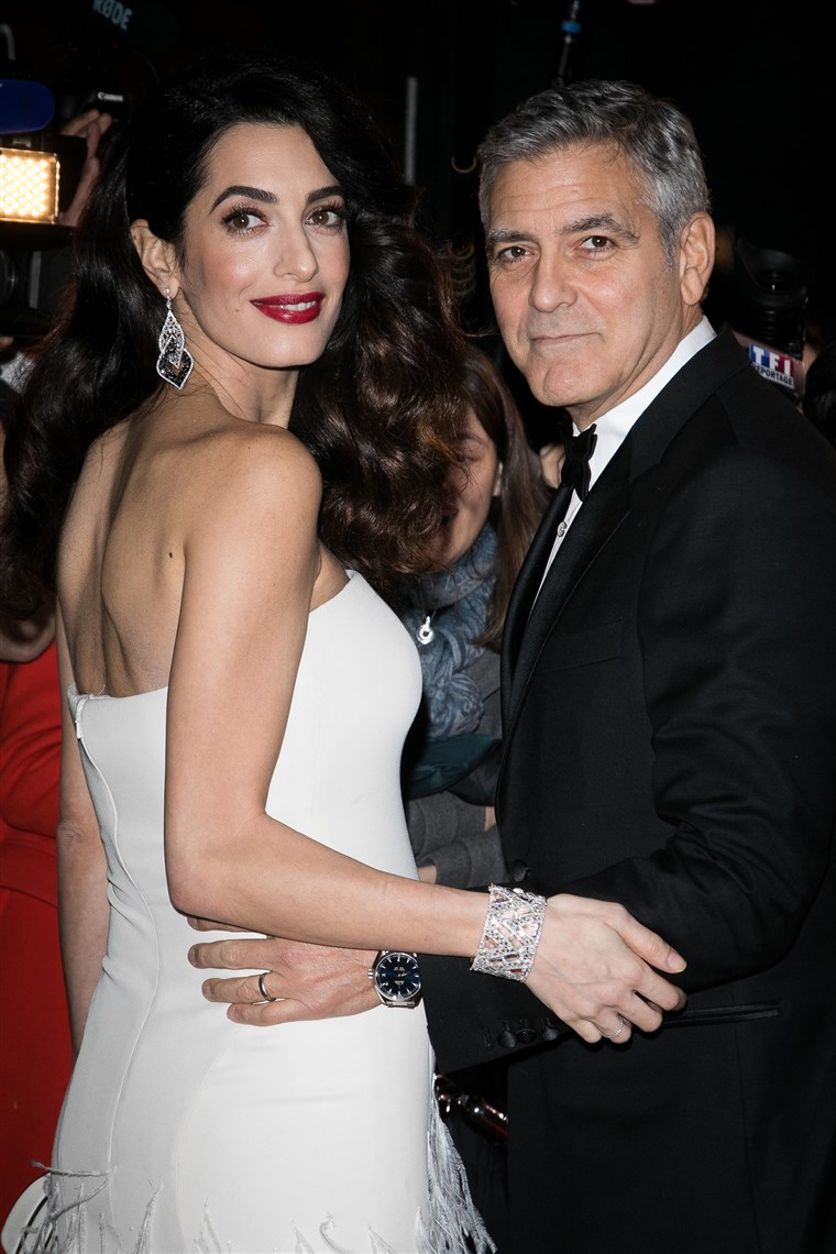 Amalas Clooney and husband George Clooney