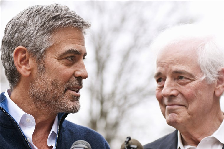 Georgeas Clooney and Nick Clooney