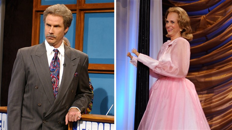 Kristenas Wiig as Dooneese and Will Ferrell as Alex Trebek are two of their most famous SNL sketches.
